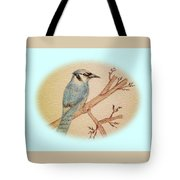 Blue Jay Tote Bag