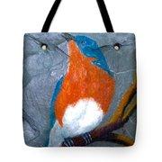 Blue Bird On Slate Tote Bag