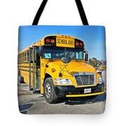 Blue Bird Vision School Bus Tote Bag