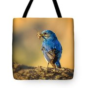 Blue Bird With Breakfast Tote Bag
