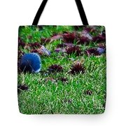 Blue Birds In Winter Tote Bag