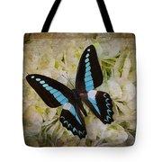 Blue Black Butterfly Dreams Tote Bag