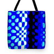 Blue Black Pattern Abstract Tote Bag