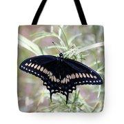 Blue Black Swallowtail Tote Bag