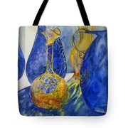 Blue Blenko Tote Bag