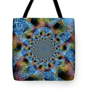 Blue Bling Tote Bag