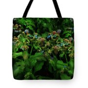 Blue Blossoms By Moonlight Tote Bag