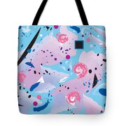 Blue Blue Abstract Tote Bag