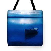 Blue Blue Boat Tote Bag