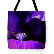 Blue Blue Iris Tote Bag