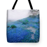 Blue Bonnet Field Early Morning Tote Bag
