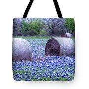 Blue Bonnets In Field Tote Bag