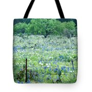 Blue Bonnets,poppies And Willow Tree 2 Tote Bag