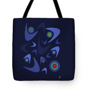 Blue Boomerangs Tote Bag