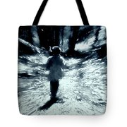 Blue Boy Walking Into The Future Tote Bag
