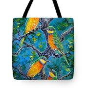 Blue Breasted Bee Eater Tote Bag