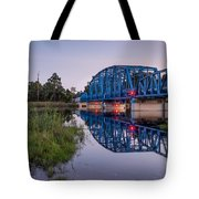 Blue Bridge Over The St. Marys River Kingsland, Georgia Tote Bag