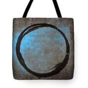 Blue Brown Enso Tote Bag