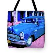 Blue Buick Tote Bag
