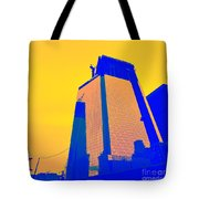 Blue Building Tote Bag