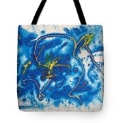 Blue Bunny Tote Bag