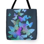 Blue Butterfly Flutter Tote Bag