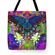 Blue Butterfly Pop Tote Bag