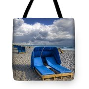 Blue Cabana Tote Bag