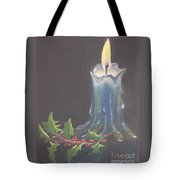Blue Candle Tote Bag