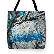 Blue Canyons Colliding Tote Bag