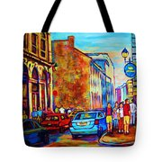 Blue Cars At The Resto Bar Tote Bag