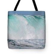 Blue Cascade   Hawaiian Wave Tote Bag