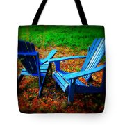 Blue Chairs Tote Bag