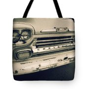 Blue Chevy Truck Grill Bw Tote Bag