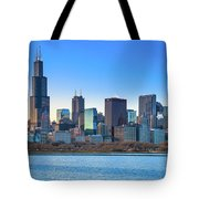 Blue Chicago Tote Bag