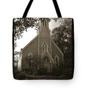Blue Church In Gloucester Tote Bag