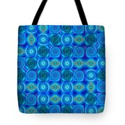 Blue Circles Abstract Art By Sharon Cummings Tote Bag