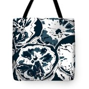Blue Circles Of Orange Tote Bag