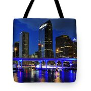 Blue City Tote Bag