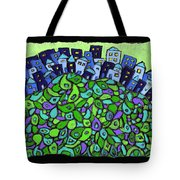 Blue City On A Hill Tote Bag