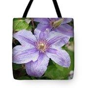 Blue Clematis Tote Bag