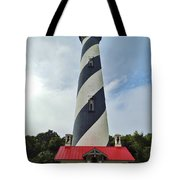 Blue Clouds At The Lighthouse Tote Bag