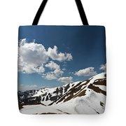 Blue Cloudy Sky Over Spring Tatra Mountains, Poland, Europe Tote Bag