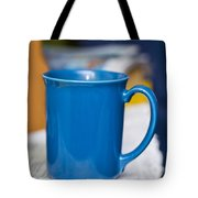 Blue Coffee Cup Tote Bag