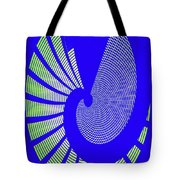 Blue Colored Metal Panel Tempe Center For The Arts Abstract Tote Bag