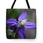 Blue Columbine Squared 1 Tote Bag