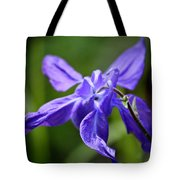 Blue Columbine Tote Bag