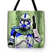 Blue Commander Stormtrooper At Work - Pa Tote Bag