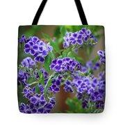 Blue Cottage Flowers Tote Bag