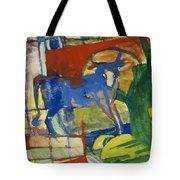 Blue Cow Tote Bag